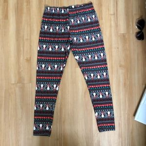 Christmas penguins leggings